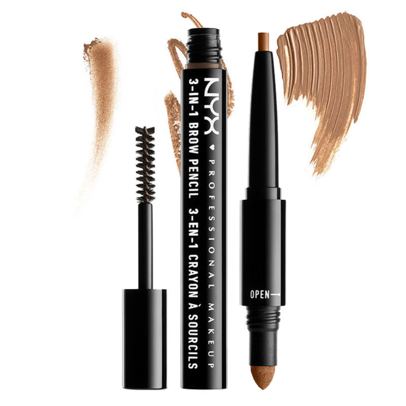 NYX Professional Makeup 3-In-1 Brow Pencil - Caramel