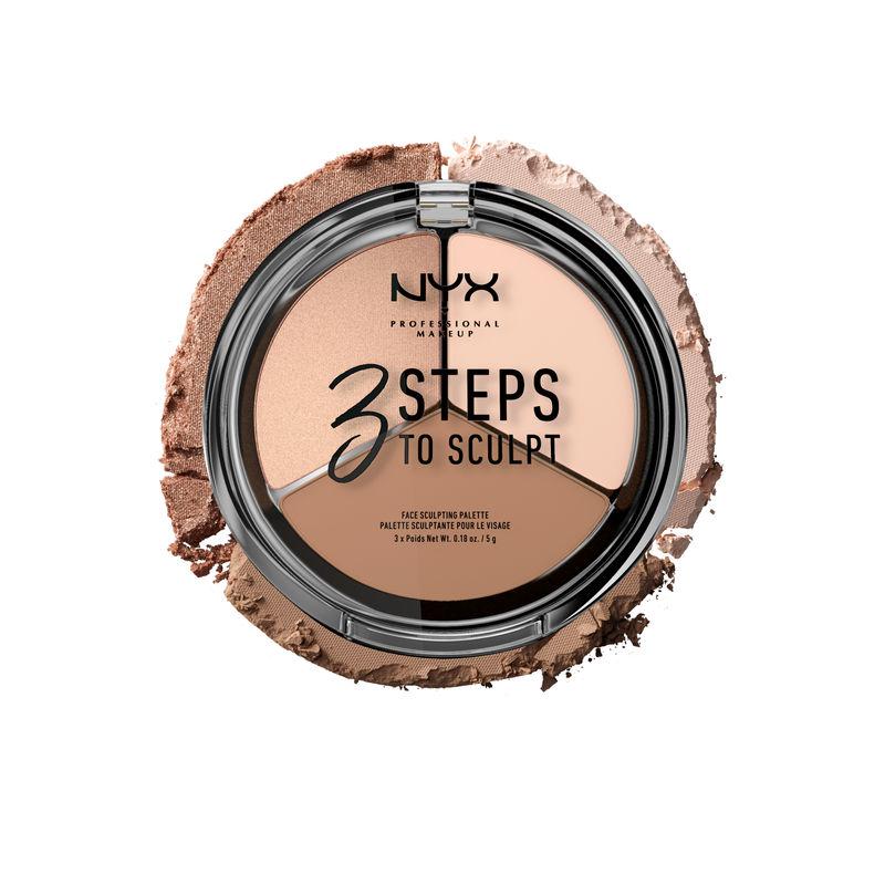 NYX Professional Makeup 3 Steps To Sculpt Face Sculpting Palette - 01 Fair