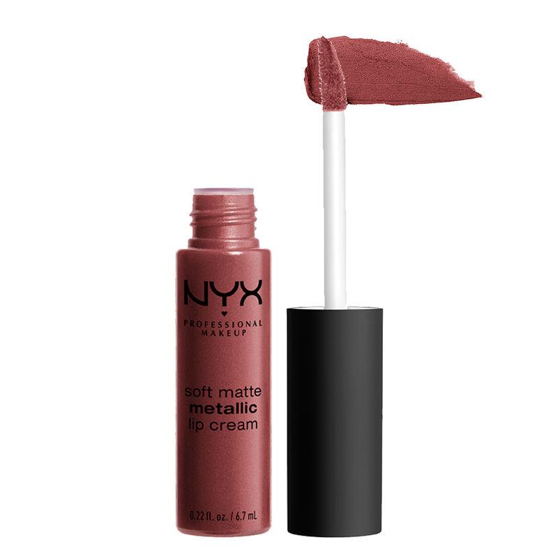NYX Professional Makeup Soft Matte Metallic Lip Cream - Rome