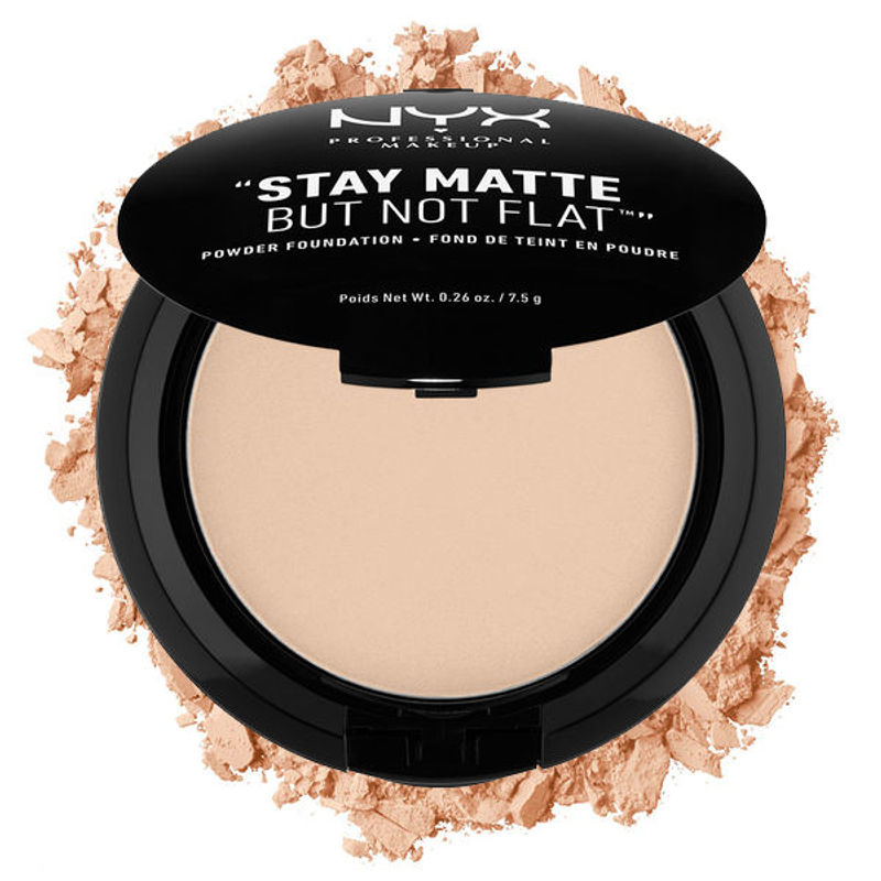 NYX Professional Makeup Stay Matte But Not Flat Powder Foundation - 02 Nude