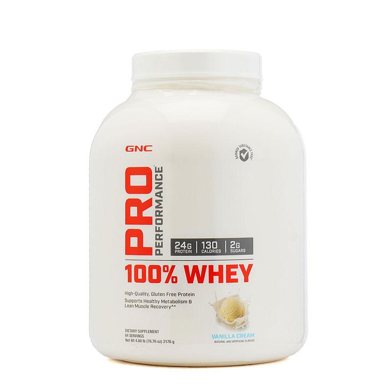 GNC Pp 100% Whey Protein Vanilla Powder (4.8 Lbs)