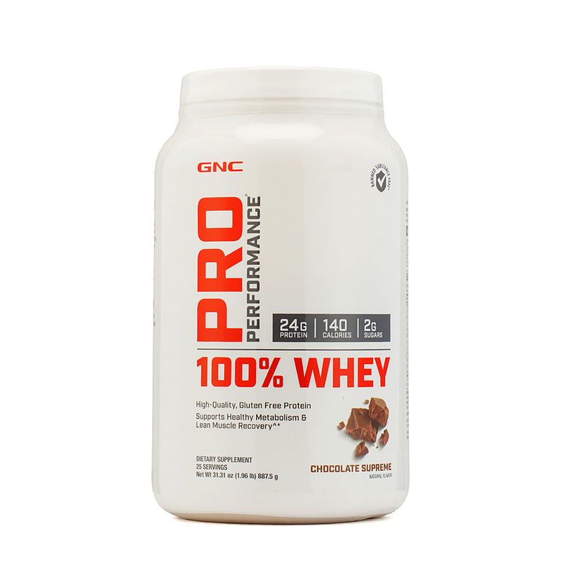 GNC Pro Performance 100% Whey Protein - Chocolate Powder (2.1Lb)