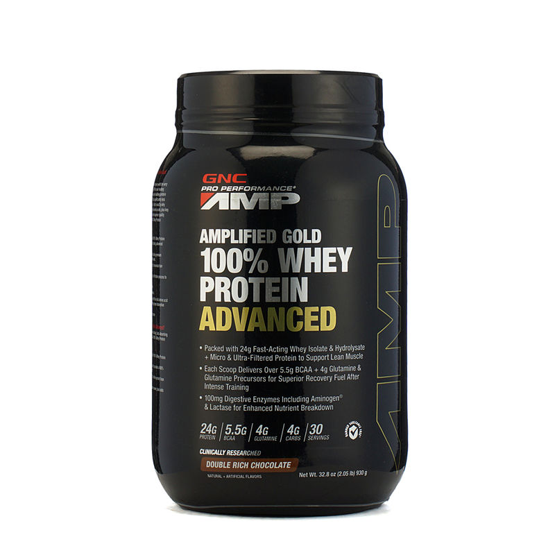 GNC Amp Gold 100% Whey Protein Advanced Chocolate Powder (2.05 Lb)
