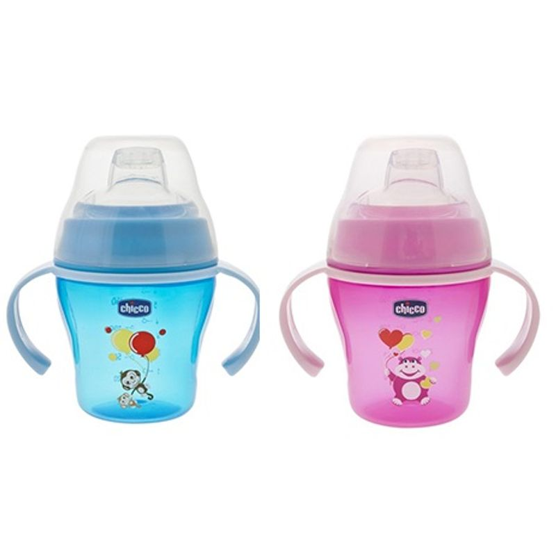 Chicco Soft Cup Pink And Blue (6M+)