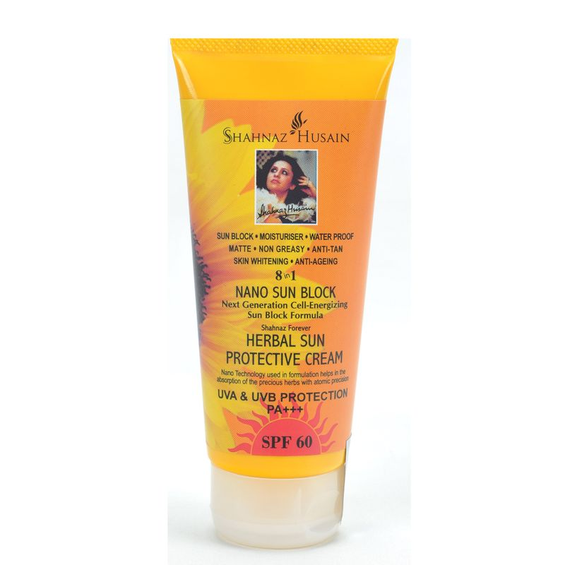 Shahnaz Husain Total Care Day Long Sun Block UVA & UVB Protection PA+++SPF 60