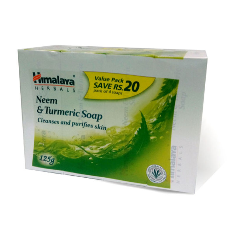 Himalaya Herbals Neem & Turmeric Soap Pack Of 4 (Save Rs.20/-)