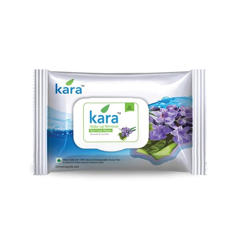 Kara Make-Up Removal Wipes With Seaweed And Lavender (30 Wipes)
