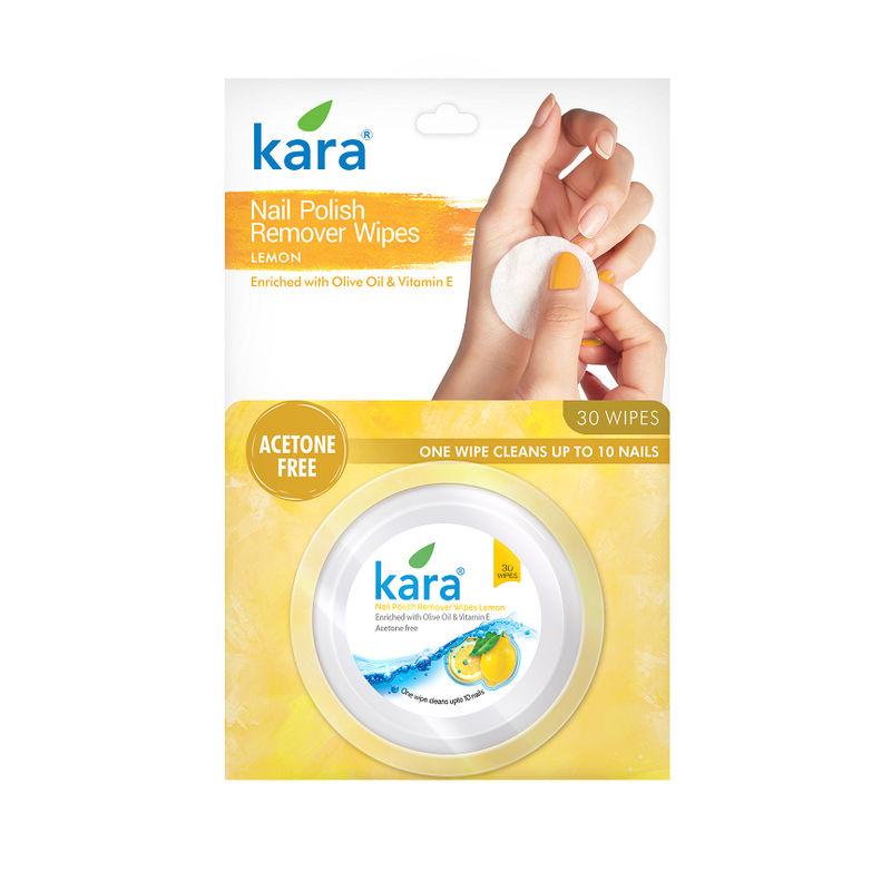 Kara Nail Polish Remover Wipes Lemon Online In India Nykaa