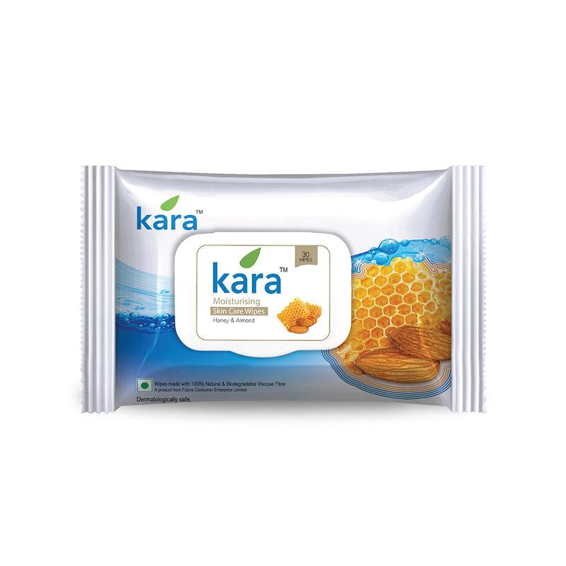 Kara Moisturizing Wipes With Honey And Almond (30 Wipes)