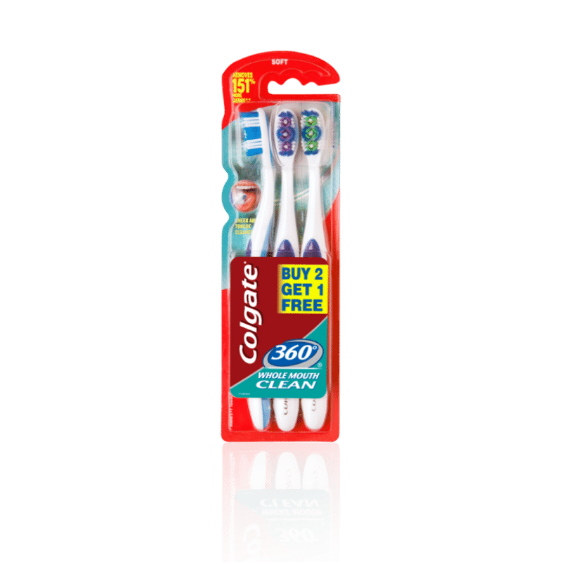 Colgate 360 Whole Mouth Clean Toothbrush Buy 2 Get 1 Free