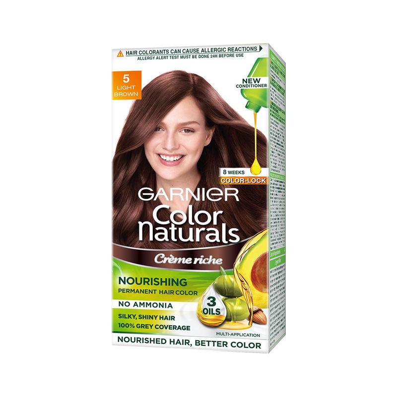 2d3deb67999 Garnier Color Naturals Creme Hair Color - 5 Light Brown at Nykaa.com