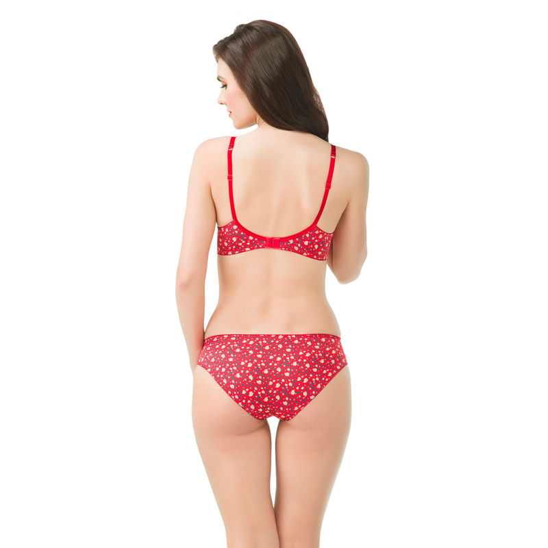 88460b1b1a4c5 Amante Florette Floral Print Red Panty at nykaa.com