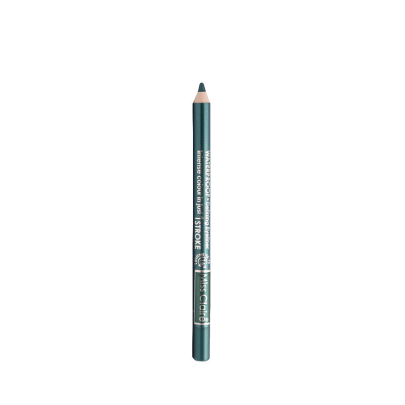 Miss Claire Waterproof Defining One Stroke Eyeliner Kajal - Glazed Green