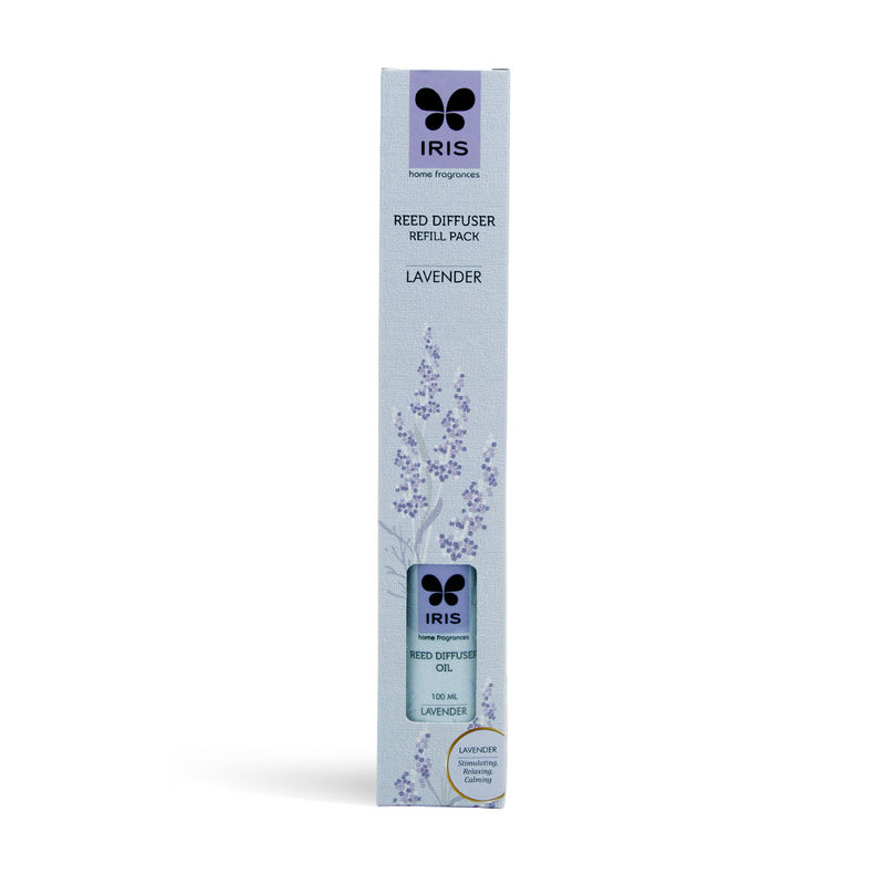 Iris Reed Diffuser Refill Pack With 16 Sticks (100ml) - Lavender