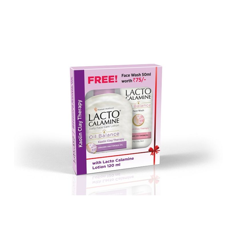 Lacto Calamine Oil Balance Lotion (For Oily Skin) 120ml With Free Face Wash Worth Rs.75