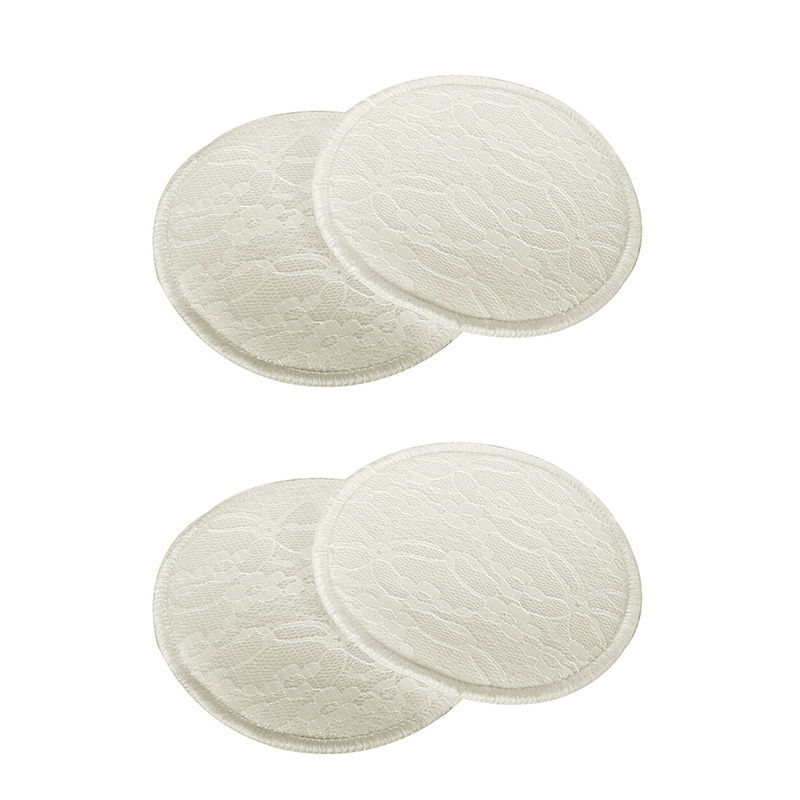 Mee Mee Washable Cotton Maternity Nursing Pads - (2 Pcs) Cream