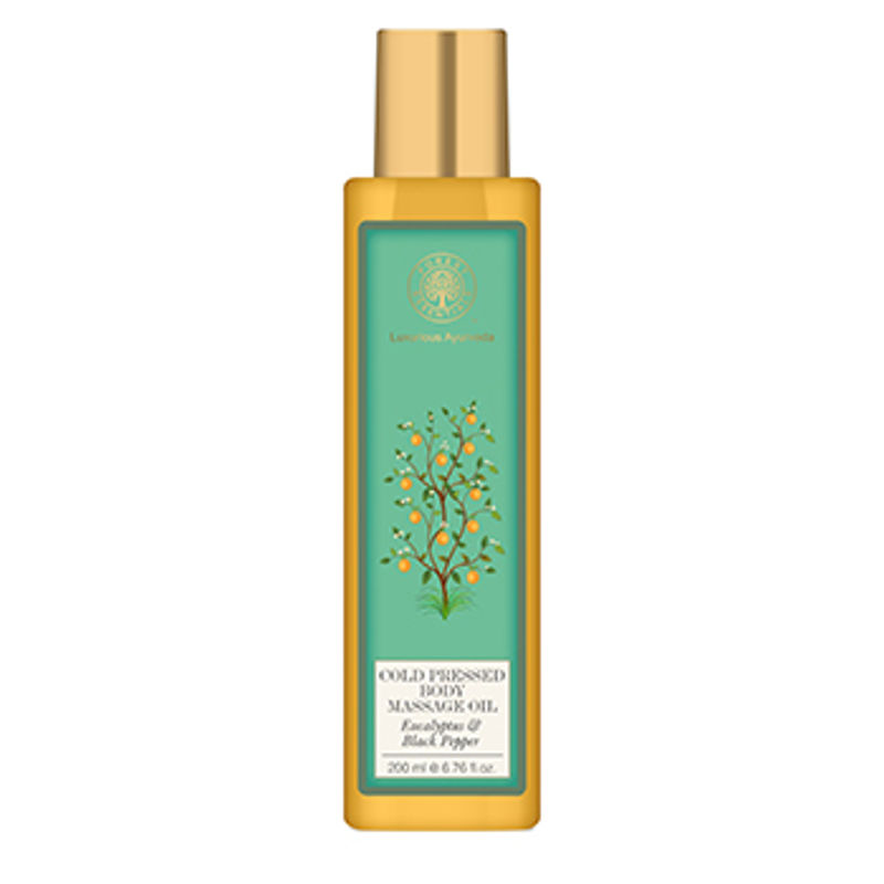 Forest Essentials Cold Pressed Body Massage Oil - Eucalyptus & Black Pepper