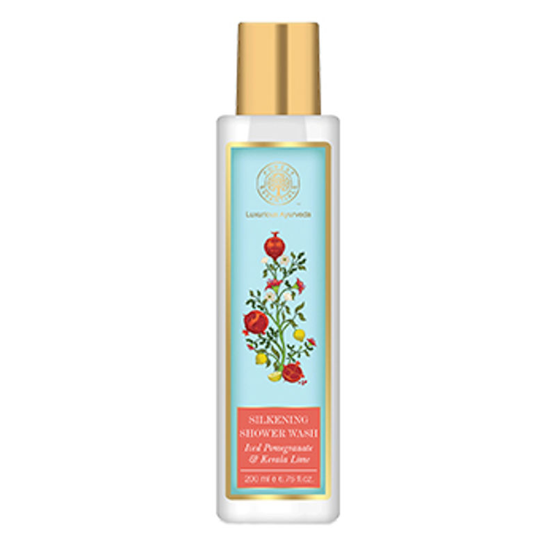 Forest Essentials Silkening Shower Wash Iced Pomegranate With Fresh Kerala Lime
