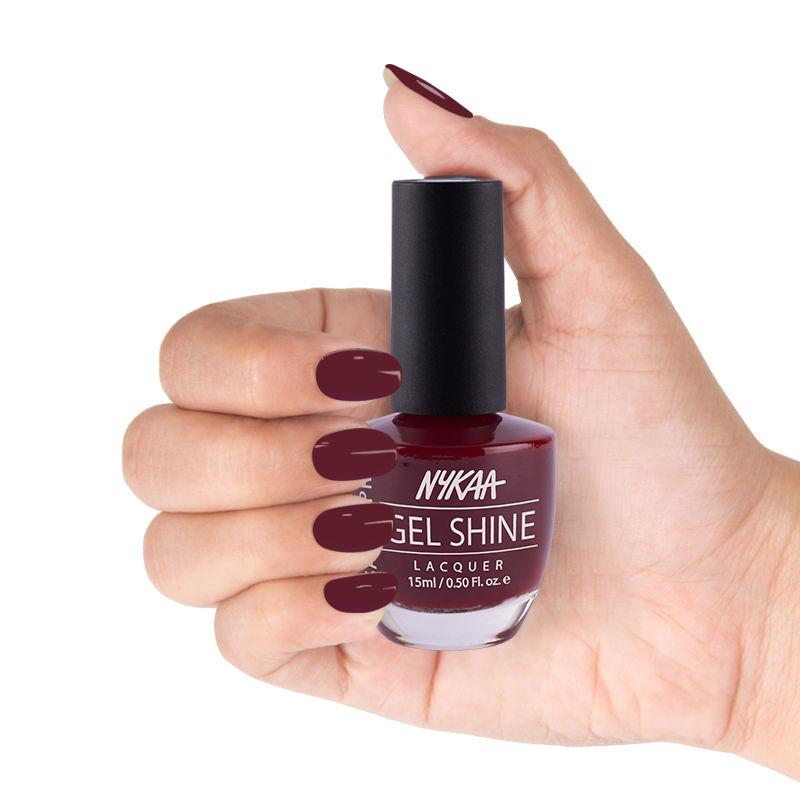 Nykaa Cosmetics Nail Polish - Buy Nykaa Salon Shine Gel Nail Lacquer ...