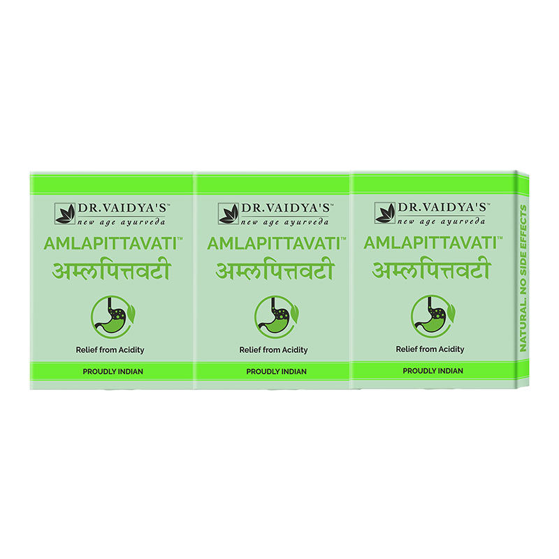 Dr. Vaidya's Amlapittavati Pills Relief From Acidity (Pack Of 3)