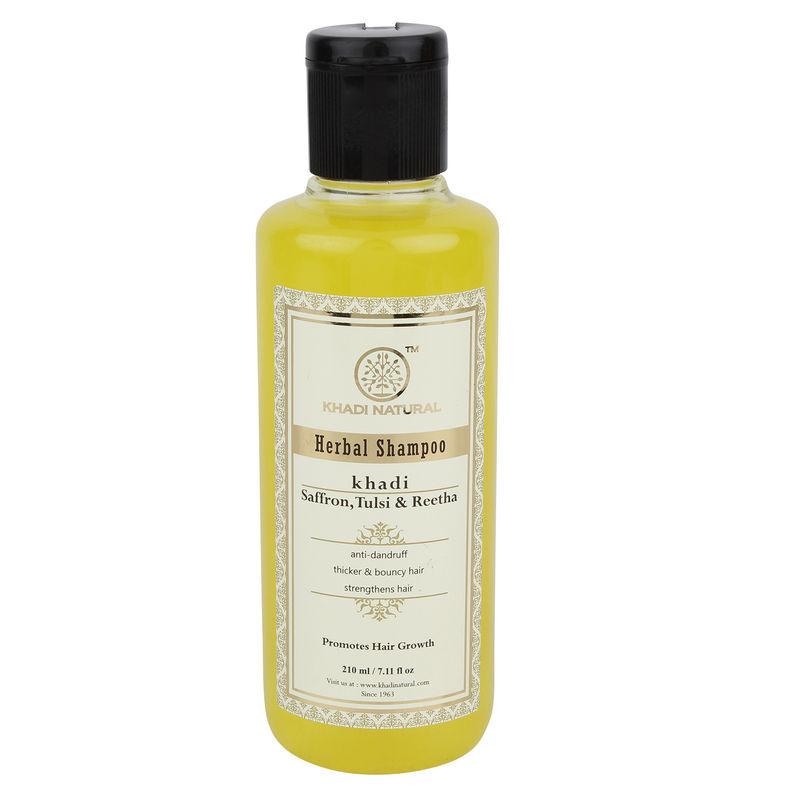 Khadi Natural Saffron, Tulsi & Reetha Herbal Shampoo