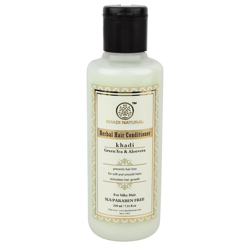 Khadi Natural Green Tea & Aloevera Herbal Hair Conditioner - SLS & Paraben Free