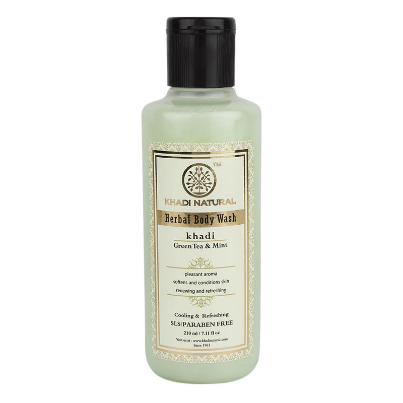 Khadi Natural Green Tea & Mint Body Wash- SLS & Paraben Free