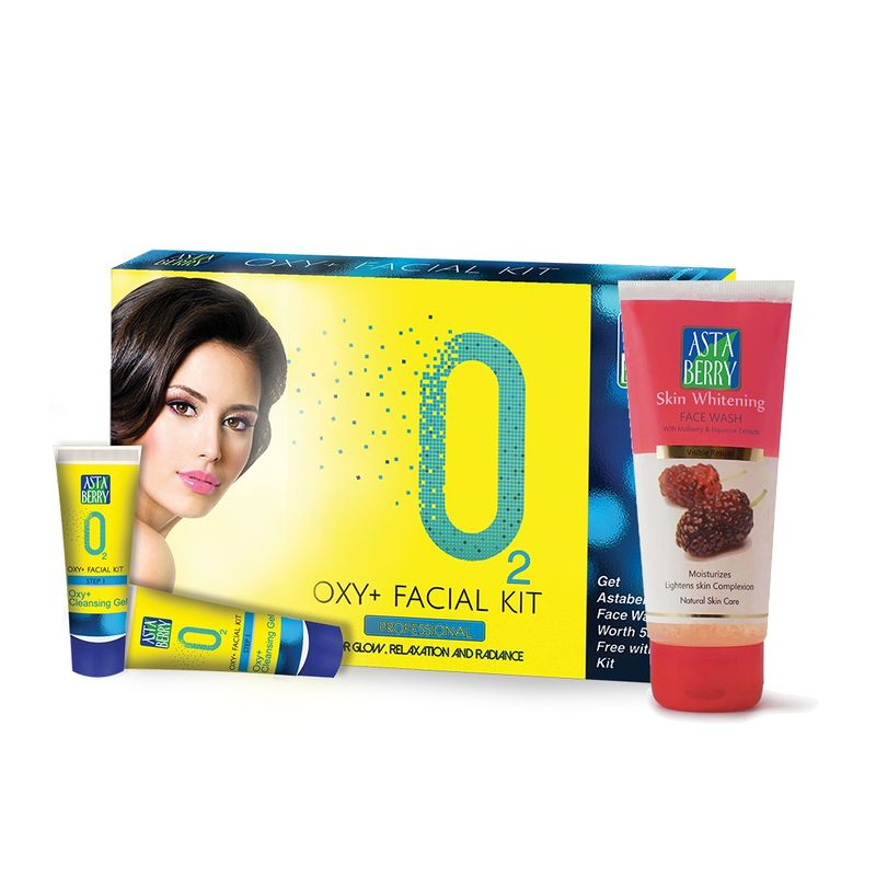 Astaberry Oxy + Facial Kit Mini + Free Skin Whitening Face Wash
