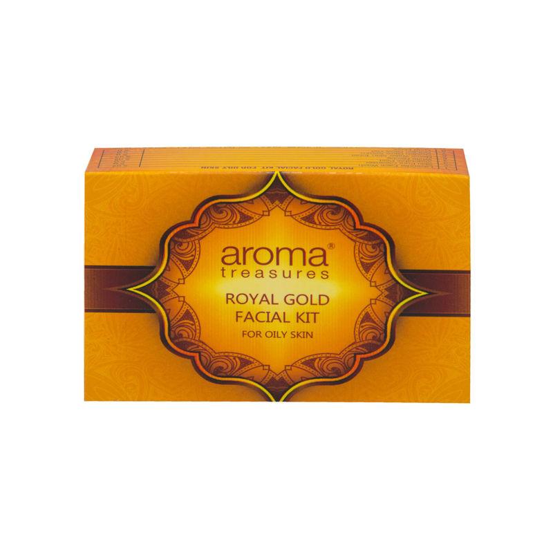Aroma Treasures Royal Gold Facial Kit For Oily Skin - Single Time