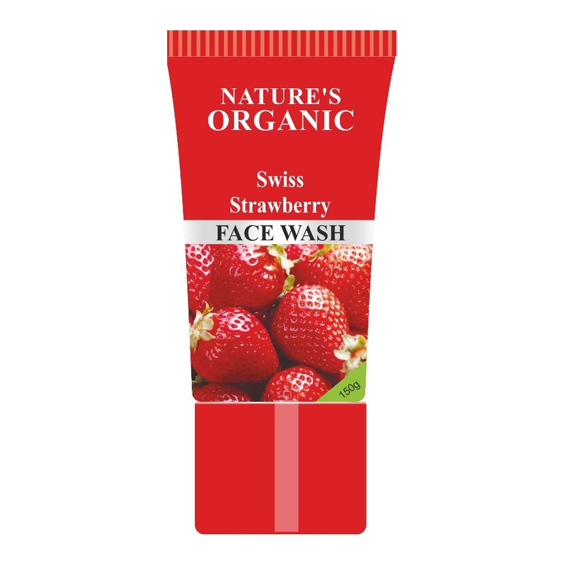 Nature's Essence Organic Swiss Strawberry Face Wash