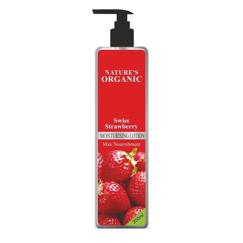 Nature's Essence Organic Swiss Strawberry Moisturising Lotion