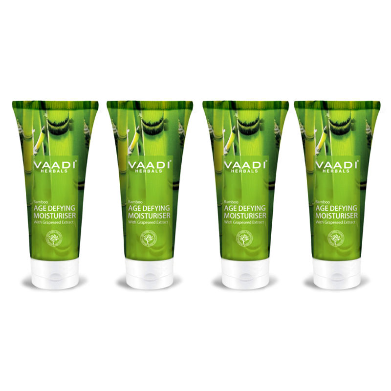 Vaadi Herbals Value Pack Of 4 Bamboo Age Defying Moisturizers With Grapeseed Extract