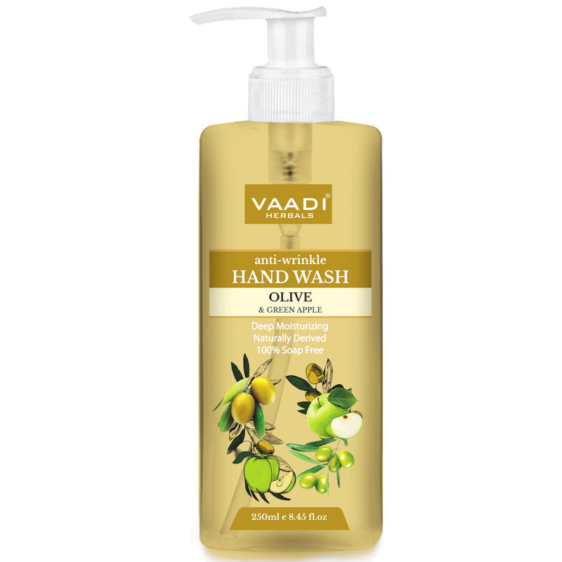 Vaadi Herbals Anti - Wrinkle Olive And Green Apple Hand Wash