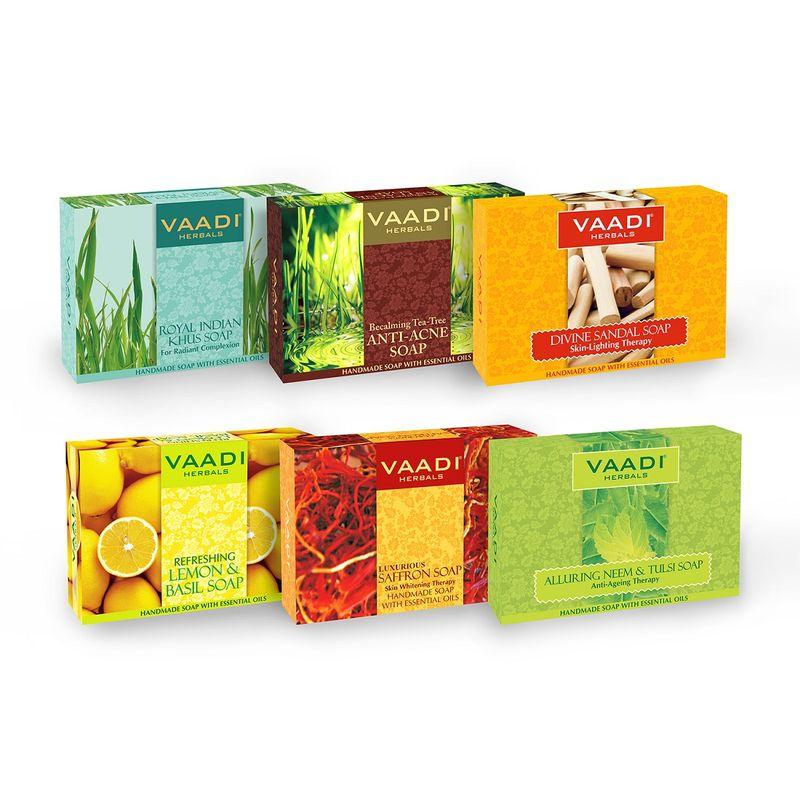 Vaadi Herbals Traditional Remedy Handmade Herbal Soaps (Pack Of 6)