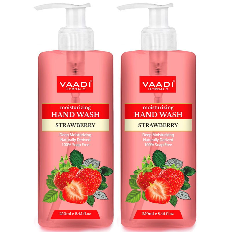 Vaadi Herbals Deep Moisturizing Strawberry Hand Wash - Pack Of 2