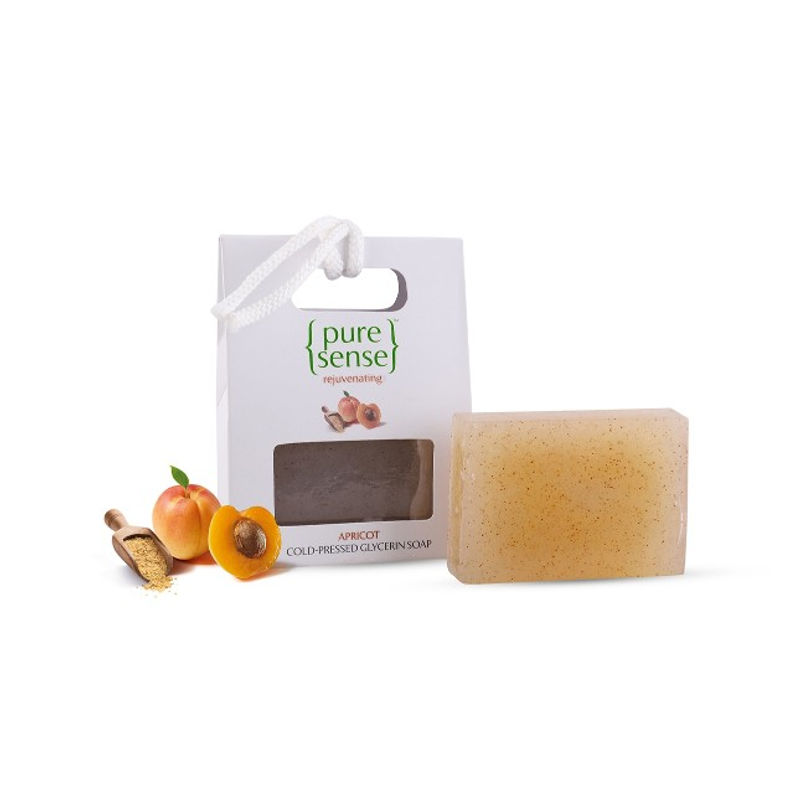 PureSense Rejuvenating Apricot Cold-Pressed Glycerin Soap - Sulphate And Paraben Free
