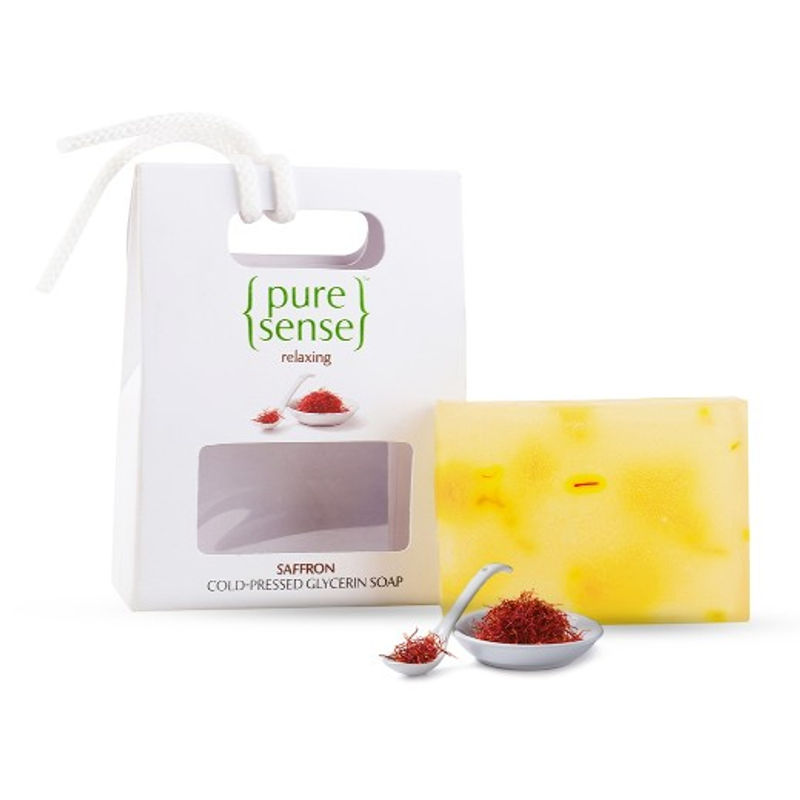 PureSense Relaxing Saffron Cold-Pressed Glycerin Soap - Sulphate And Paraben Free