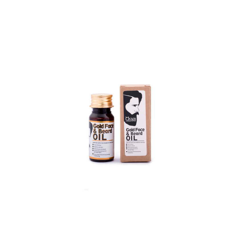 Qraa Luxurious Gold Face And Beard Oil