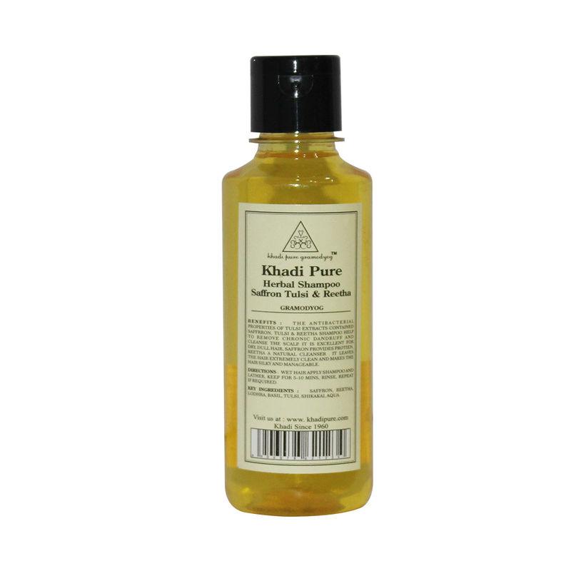 Khadi Pure Herbal Saffron, Tulsi & Reetha Shampoo
