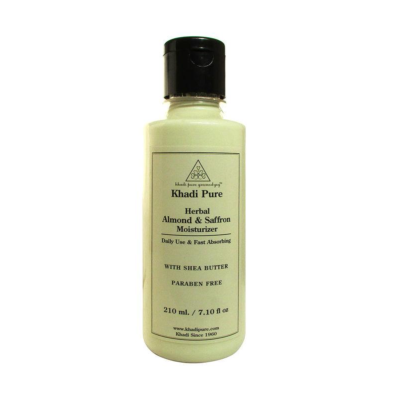 Khadi Pure Herbal Almond & Saffron Moisturizer With Sheabutter SLS-Paraben Free