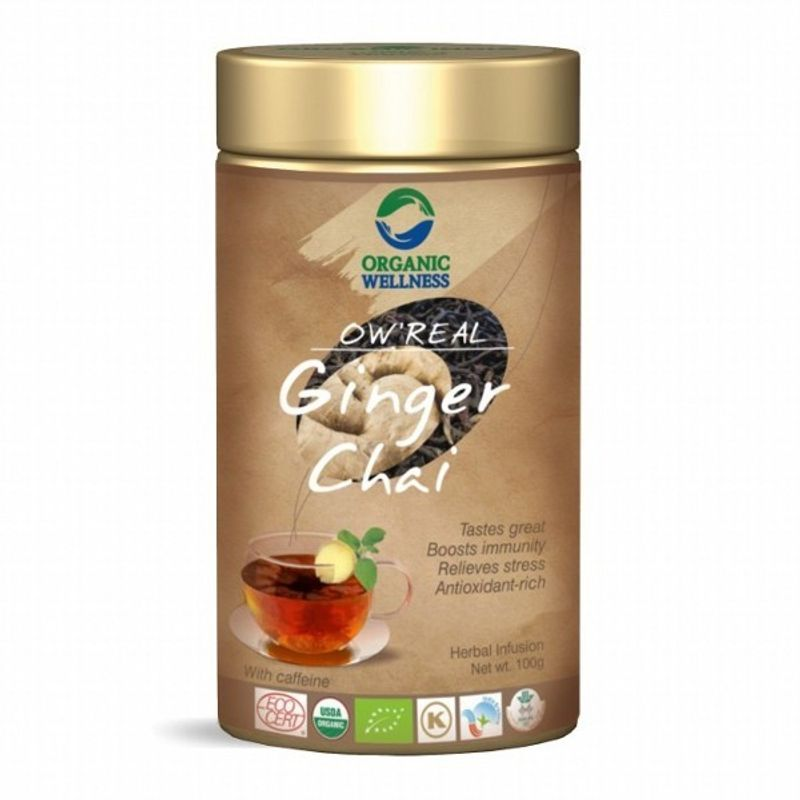 Organic Wellness Real Ginger Chai Tin
