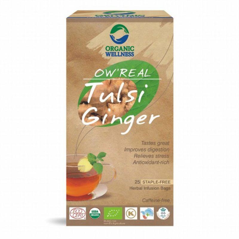 Organic Wellness Real Tulsi Ginger Tea