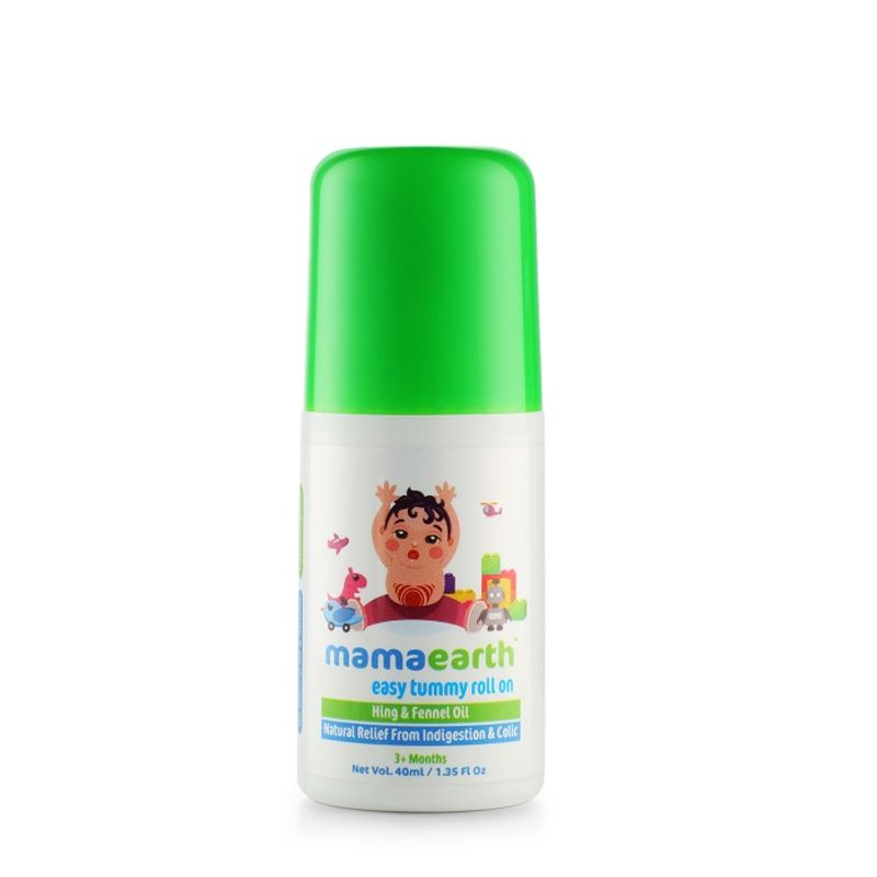 Mamaearth Easy Tummy Roll On For Digestion And Colic Relief - Hing And Fennel