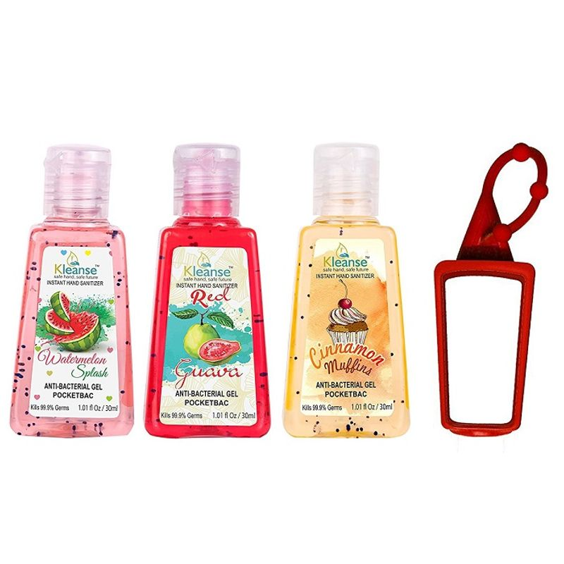 Kleanse Cinnamon, Watermelon And Red Guava Instant Hand Sanitizer With Free Bag Tag
