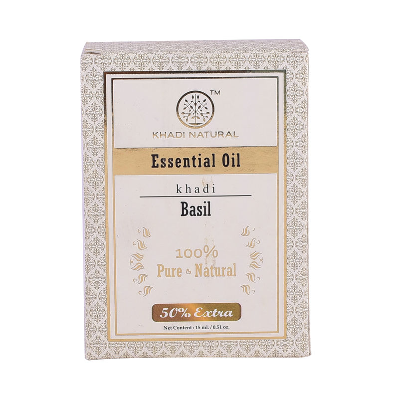 99a332f42b Khadi Natural Basil Essential Oil - 10Ml at Nykaa.com