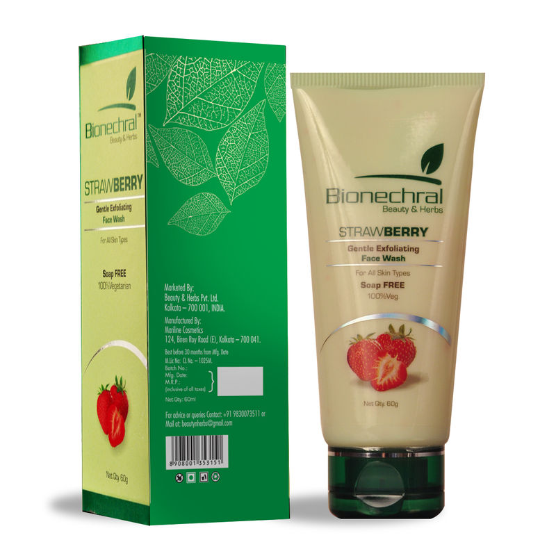 Bionechral Strawberry Exfoliating Face Wash