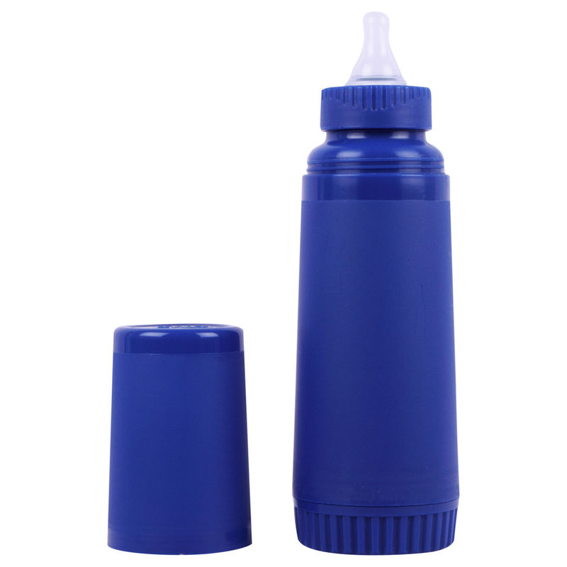 FARLIN Un-Breakable Insulated Feeding Bottle 250 CC (Blue)