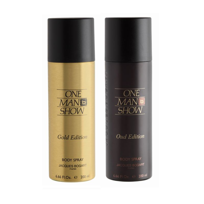Jacques Bogart One Man Show Gold & One Man Show Oud Deodorant Combo