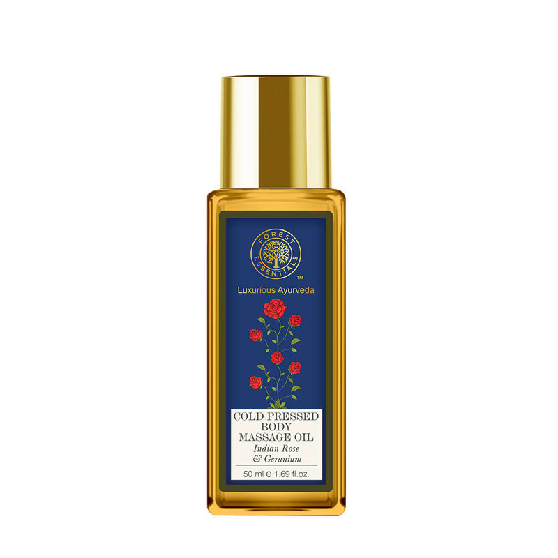 Forest Essentials Cold Pressed Body Massage Oil - Indian Rose & Geranium