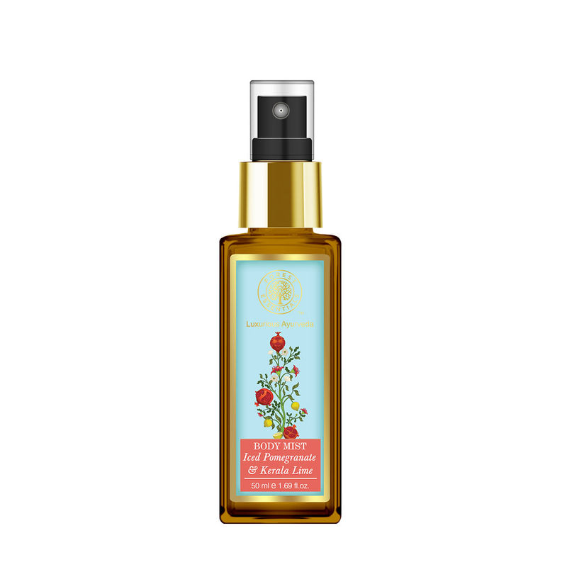 Forest Essentials Body Mist Iced Pomegranate With Fresh Kerala Lime